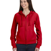 Ladies' Fleece Full-Zip Raglan Hoodie