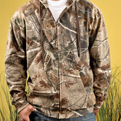 Adult Officially Licensed REALTREE® Camouflage Hooded Zip Front Sweatshirt
