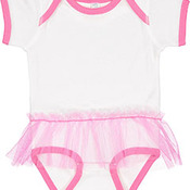 Infant Baby Rib Lap Shoulder Tutu Creeper
