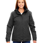 Ladies' Rivet Textured Twill Insulated Jacket