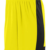 Adult Wicking Polyester Short with Contrast Inserts