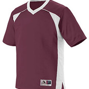 Youth Polyester Mesh V-Neck Short-Sleeve Jersey