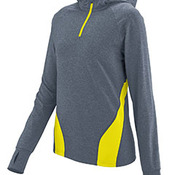 Ladies Wicking Brushed Back Poly/Span Quarter-Zip Hoody