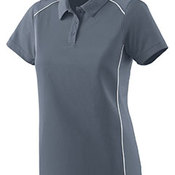 Ladies Wicking Polyester Sport Shirt with Contrast Piping