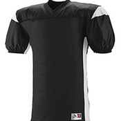 Adult Polyester Diamond Mesh V-Neck Jersey with Contrast Dazzle Inserts